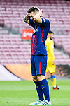 Lionel Andres Messi of FC Barcelona gestures during the La Liga 2017-18 match between FC Barcelona and Las Palmas at Camp Nou on 01 October 2017 in Barcelona, Spain. (Photo by Vicens Gimenez / Power Sport Images