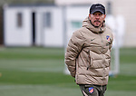 Atletico de Madrid's coach Diego Pablo Cholo Simeone during training session. February 25,2021.(ALTERPHOTOS/Atletico de Madrid/Pool)