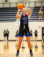 Kate Miller (22) of Rogers makes free throw against Bentonville West at Wolverine Arena, Centerton,  AR, Tuesday, January 12, 2021 / Special to NWA Democrat-Gazette/ David Beach