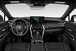 Stock photo of straight dashboard view of 2021 Toyota Venza Limited 5 Door SUV Dashboard