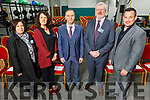 Attending the Momentum 2020 KerrySciTech evening in the Kerry GAA Centre of Excellence, Currans on Friday. Moira Murrell (CEO of Kerry County Council), Diana Thornton McCarthy (NEWKD), Eamon Whelan (Vice Chair of Kerry GAA County Committee), Eoin Liston and Andy Smith (Kerry County Council)