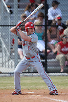 March 15, 2010:  Matt Papillo (9) of the Cortland Red Dragons in a game vs Wheaton College at Lake Myrtle Park in Auburndale, FL.  Photo By Mike Janes/Four Seam Images