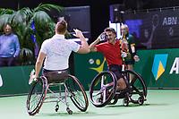 Rotterdam, The Netherlands, 14 Februari 2019, ABNAMRO World Tennis Tournament, Ahoy, Wheelchair final doubles, Stephane Houdet (FRA) / Nicolas Peifer (FRA),<br /> Photo: www.tennisimages.com/Henk Koster