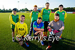 Tadgh McMullen who is hosting 'Gladiators' a mixed ability Soccer Team in Ireland training in KDL pitch on Monday evening. Kneeling l to r: Conor Griffin, John O'Brien and Gary O'Sullivan. Back l to r: Natalie Mason, Daniel Diggins, Alusin Jah and John Fokseang.