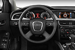 Steering wheel view of a 2011 Audi A4 Sedan