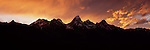 A sunset above the Teton Range in Grand Teton National Park, Wyoming.