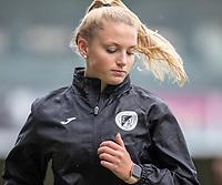 Lauren Godart of Eendracht Aalst pictured during a female soccer game between Eendracht Aalst and Sporting Charleroi on the fifth matchday of the 2021 - 2022 season of Belgian Scooore Womens Super League , Saturday 2 October 2021  in Aalst , Belgium . PHOTO SPORTPIX    KRISTOF DE MOOR