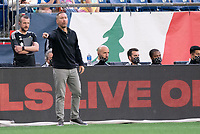 FOXBOROUGH, MA - MAY 16: Caleb Porter head  coach of the Columbus SC team during a game between Columbus SC and New England Revolution at Gillette Stadium on May 16, 2021 in Foxborough, Massachusetts.