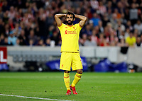 25th September 2021; Brentford Community Stadium, London, England; Premier League Football Brentford versus Liverpool; Mohamed Salah of Liverpool hands on head in disappointment after missing a chance to score