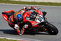 1st April 2021; Circuit de Barcelona Catalunya, Barcelona, Spain; FIM Superbike World Championship Testing; Michael Ruben Rinaldi of the Aruba.it Team in action with the Worldsbk Ducati Panigale V4 R