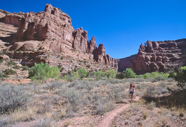 Utah, Fish Creek Canyon, Southwest USA, Bureau of Land Management, (BLM), Red rock formations, hiker in solitude, Maggie Coon, released, Owl and Fish Creek Loop hike,.