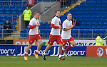 Wales's Craig Bellamy, Aaron Ramsey and Darcy Blake warming up..Wales v Norway Vauxhall international friendly match at the Cardiff City Stadium in South Wales..Editorial use only.