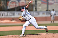 Asheville Tourists pitcher Ben Bowden (35) delivers a pitch during his professional debut against the West Virginia Power at McCormick Field on June 26, 2016 in Asheville, North Carolina. The Power defeated the Tourists 6-3. (Tony Farlow/Four Seam Images)