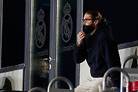 6th April 2021, Alfredo Di Stefano Stadium, Madrid, Spain; UEFA Champipons League football quarterfinl, Real Madrid versus Liverpool;  Sergio Ramof Real Madrid watches from the stands