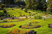Walled Garden at Kylemore Abbey. Connemara region, ireland