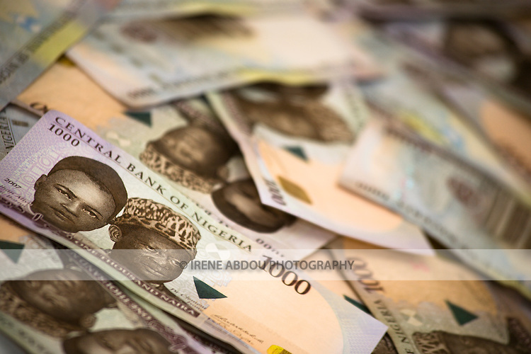 1000 naira bills (Nigerian currency)