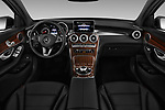 Stock photo of straight dashboard view of 2017 Mercedes Benz GLC-Coupe 300-4MATIC 5 Door SUV Dashboard