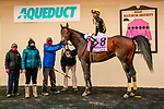 DEC 05, 2020 : Kendrick Carmouche wins his first grade 1 aboard True Timber to winCigar Mile Handicap, at Aqueduct, Ozone Park, NY.  Sue Kawczynski/Eclipse Sportswire/CSM
