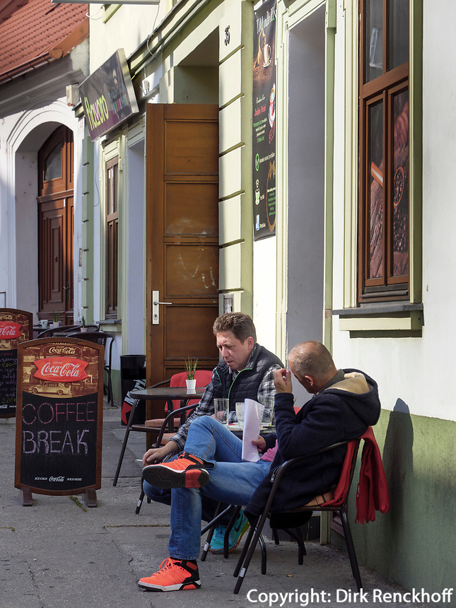 Café an der Vysoka, Bratislava, Bratislavsky kraj, Slowakei, Europa<br /> Café at Vysoka, Bratislava, Bratislavsky kraj, Slowakia, Europe