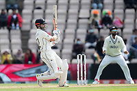 Kane Williamson, New Zealand pulls a short delivery square of the wicket for four runs during India vs New Zealand, ICC World Test Championship Final Cricket at The Hampshire Bowl on 22nd June 2021