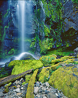 Waterfall at Strawberry Lake in the Strawberry Mountain Wilderness; Malheur National Forest, OR