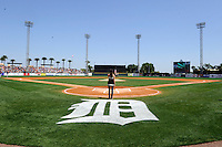 Field view of Joker Marchant Stadium during a spring training game between the Detroit Tigers and Tampa Bay Rays at Joker Marchant Stadium on March 29, 2013 in Lakeland, Florida.  (Mike Janes/Four Seam Images)