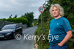 John Barry and other locals are furious that a country road speed limit has been increased to 80km on the Ballinalourth road off of the Bracker Regan road in Tralee.