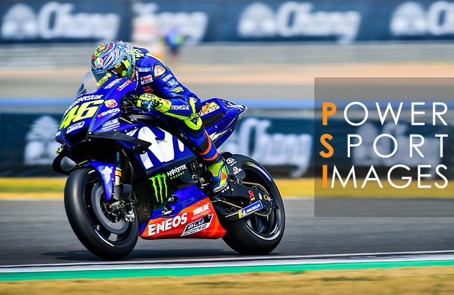 Movistar Yamaha MotoGP's rider Valentino Rossi of Italy rides during the MotoGP Official Test at Chang International Circuit on 17 February 2018, in Buriram, Thailand. Photo by Kaikungwon Duanjumroon / Power Sport Images
