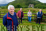 Standing at Glenbeigh Castle on Monday on the 100 year anniversary of the burning of Glenbeigh Castle. <br /> Front l to r: Pat Murphy (Chairman of Glenbeigh Historical Society), <br /> Back l to r: David Pitt, Geraldine Murphy (Glenbeigh Community Council) and John Houlihan (Secretary).