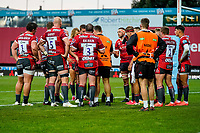 21st August 2020; Kingsholm Stadium, Gloucester, Gloucestershire, England; English Premiership Rugby, Gloucester versus Bristol Bears; Gloucester re-group after going down 19-0