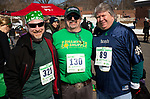 WATERTOWN,  CT-030919JS18 --Rob Berman of Terryville; Roy Marchinkoski of Watertown and Pat Doolan of Watertown, at the 8th annual Watertown Shamrock Shuffle Road Race at Polk Elementary School in Watertown. This year, proceeds from the event will benefit the Water-Oak Circle of Sports.<br /> Jim Shannon Republican American