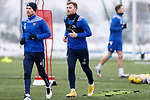 St Johnstone Training...   21.01.21<br />Liam Craig pictured during training with David Wotherspoon at McDiarmid Park ahead of Saturday's BetFred Cup semi-final against Hibs at Hampden.<br />Picture by Graeme Hart.<br />Copyright Perthshire Picture Agency<br />Tel: 01738 623350  Mobile: 07990 594431