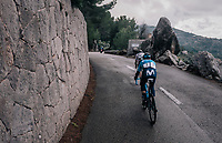 Alejandro Valverde (ESP/Movistar) got dropped in the race finale together with Gregor Mühlberger (AUT/Bora-Hansgrohe)<br /> <br /> Trofeo Lloseta - Andratx: 140km<br /> 27th Challenge Ciclista Mallorca