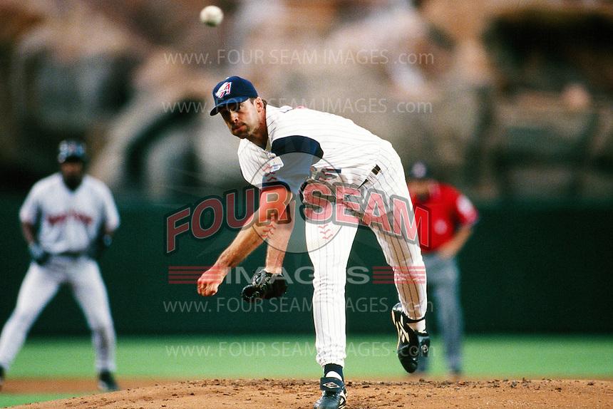 Chuck Finley of the Anaheim Angels during a game circa 1999 at Angel Stadium in Anaheim, California. (Larry Goren/Four Seam Images)