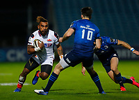 16th November 2020; RDS Arena, Dublin, Leinster, Ireland; Guinness Pro 14 Rugby, Leinster versus Edinburgh; Eroni Sau of Edinburgh makes a run with the ball against Harry Byrne of Leinster