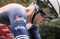 Edward Theuns (BEL/Trek-Segafredo) on the steep parts of the individual time trial up the infamous Planche des Belles Filles<br /> <br /> Stage 20 (ITT) from Lure to La Planche des Belles Filles (36.2km)<br /> <br /> 107th Tour de France 2020 (2.UWT)<br /> (the 'postponed edition' held in september)<br /> <br /> ©kramon