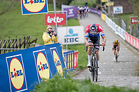 Mathieu Van der Poel (NED/Alpecin-Fenix) in the last ascent up the Paterberg<br /> <br /> 105th Ronde van Vlaanderen 2021 (MEN1.UWT)<br /> <br /> 1 day race from Antwerp to Oudenaarde (BEL/264km) <br /> <br /> ©kramon