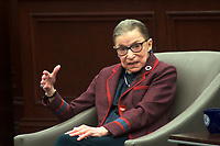 Ruth Bader Ginsburg, Associate Justice of the U.S. Supreme Court at Roger Williams University School of Law in Bristol Rhode Island 1.30.18