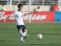 Michael Bradley boots the ball. The USA defeated China, 4-1, in an international friendly at Spartan Stadium, San Jose, CA on June 2, 2007.