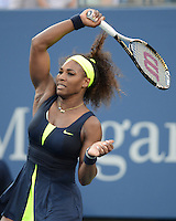 FLUSHING NY- SEPTEMBER 9: Serena Williams Vs Victoria Azarenka in the Womens  finals on Arthur Ashe Stadium at the USTA Billie Jean King National Tennis Center on September 9, 2012 in in Flushing Queens. Credit: mpi04/MediaPunch Inc. ***NO NY NEWSPAPERS*** /NortePhoto.com<br /> <br /> **CREDITO*OBLIGATORIO** *No*Venta*A*Terceros*<br /> *No*Sale*So*third*...