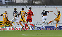 15/11/2008  Copyright Pic: James Stewart.File Name : sct_jspa01_falkirk_v_motherwell.MICHAEL HIGDON SCORES FALKIRK'S FIRST.James Stewart Photo Agency 19 Carronlea Drive, Falkirk. FK2 8DN      Vat Reg No. 607 6932 25.Studio      : +44 (0)1324 611191 .Mobile      : +44 (0)7721 416997.E-mail  :  jim@jspa.co.uk.If you require further information then contact Jim Stewart on any of the numbers above.........