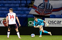 Bolton Wanderers' Billy Crellin throws the ball out<br /> <br /> Photographer Andrew Kearns/CameraSport<br /> <br /> EFL Papa John's Trophy - Northern Section - Group C - Bolton Wanderers v Newcastle United U21 - Tuesday 17th November 2020 - University of Bolton Stadium - Bolton<br />  <br /> World Copyright © 2020 CameraSport. All rights reserved. 43 Linden Ave. Countesthorpe. Leicester. England. LE8 5PG - Tel: +44 (0) 116 277 4147 - admin@camerasport.com - www.camerasport.com