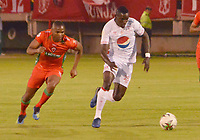 TUNJA- COLOMBIA, 03-02-2019:Acción de Juego entre los equipos Patriotas Boyacá y El América de Cali   durante partido por la fecha 3 de la Liga Águila I  2019 jugado en el estadio La Independencia de la ciudad de Tunja. /Actio game between Patriotas Boyaca and America of Cali during the match for the date 3 of the Liga Aguila I 2019 played at the La Independencia stadium in Tunja city. Photo: VizzorImage / José Miguel Palencia / Contribuidor