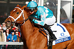 LEXINGTON, KY - April 07, 2018. #1 Monomoy Girl and jockey Florent Geroux win the 81st running of The Central Bank Ashland Grade 1 $500,000 for owner Michael Dubb, Monomoy Stables, The Elkstone Group and Bethlehem Stables and trainer Brad Cox at Keeneland Race Course.  Lexington, Kentucky. (Photo by Candice Chavez/Eclipse Sportswire/Getty Images)