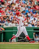 20 May 2018: Washington Nationals first baseman Mark Reynolds in action against the Los Angeles Dodgers at Nationals Park in Washington, DC. The Dodgers defeated the Nationals 7-2, sweeping their 3-game series. Mandatory Credit: Ed Wolfstein Photo *** RAW (NEF) Image File Available ***