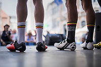 A mix of duty-free (in their pro-teams) Belgian riders form 'Team Belgium' in this race (in prep for the Nationals on sunday); <br /> And with riders like Sep Vanmarcke (BEL/Cannondale-Drapac), Edward Theuns (BEL/Trek-Segafredo), Jasper Stuyven (BEL/Trek-Segafredo), Jens Keukeleire (BEL/Orica Scott) and some young guns that makes for quite a sweet mixture too...<br /> <br /> 70th Halle Ingooigem 2017 (1.1)<br /> 1 Day Race: Halle > Ingooigem (201km)