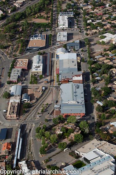 aerial photograph of the Santa Fe Railyard, New Mexico