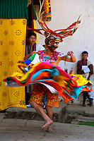 Talo Tshechu Festival with Dramitse Nga Cham (sacred Mask dance of Drum and Stick) Bhutan