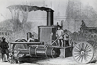 Trial Of Self-propelling Steam Fire-engine From Bowling Green to 14th Street, NY, 1858, Artist Unknown
