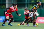 China vs South Africa during the Day 1 of the IRB Women's Sevens Qualifier 2014 at the Skek Kip Mei Stadium on September 12, 2014 in Hong Kong, China. Photo by Aitor Alcalde / Power Sport Images